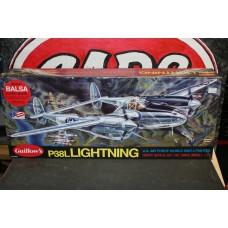 "BALSA P-38L LIGHTNING 40"""