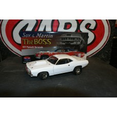 1971 PLYMOUTH BARRACUDA - SOX & MARTIN - THE BOSS WHITE VERSION