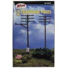 HO TELEPHONE POLES 12PC